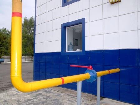 Фото.Газопроводы и газовое оборудование котельных. Ввод газопровода в котельную