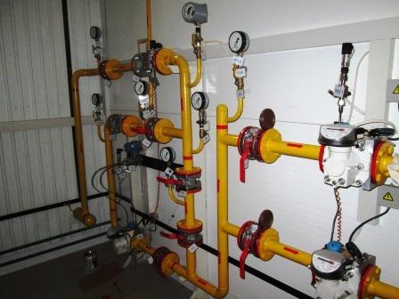 Фото.Газопроводы и газовое оборудование котельных. Газовое оборудование котельной - ГРУ