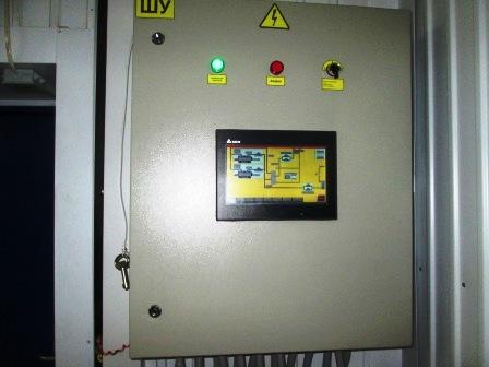 """Фото. Автоматика безопасности котлов . Сенсорная панель индикации параметров работы жаротрубного котла типа """"Турботерм"""""""