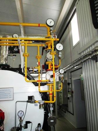 Фото. Газопроводы и газовое оборудование котельных. Газопроводы котельной