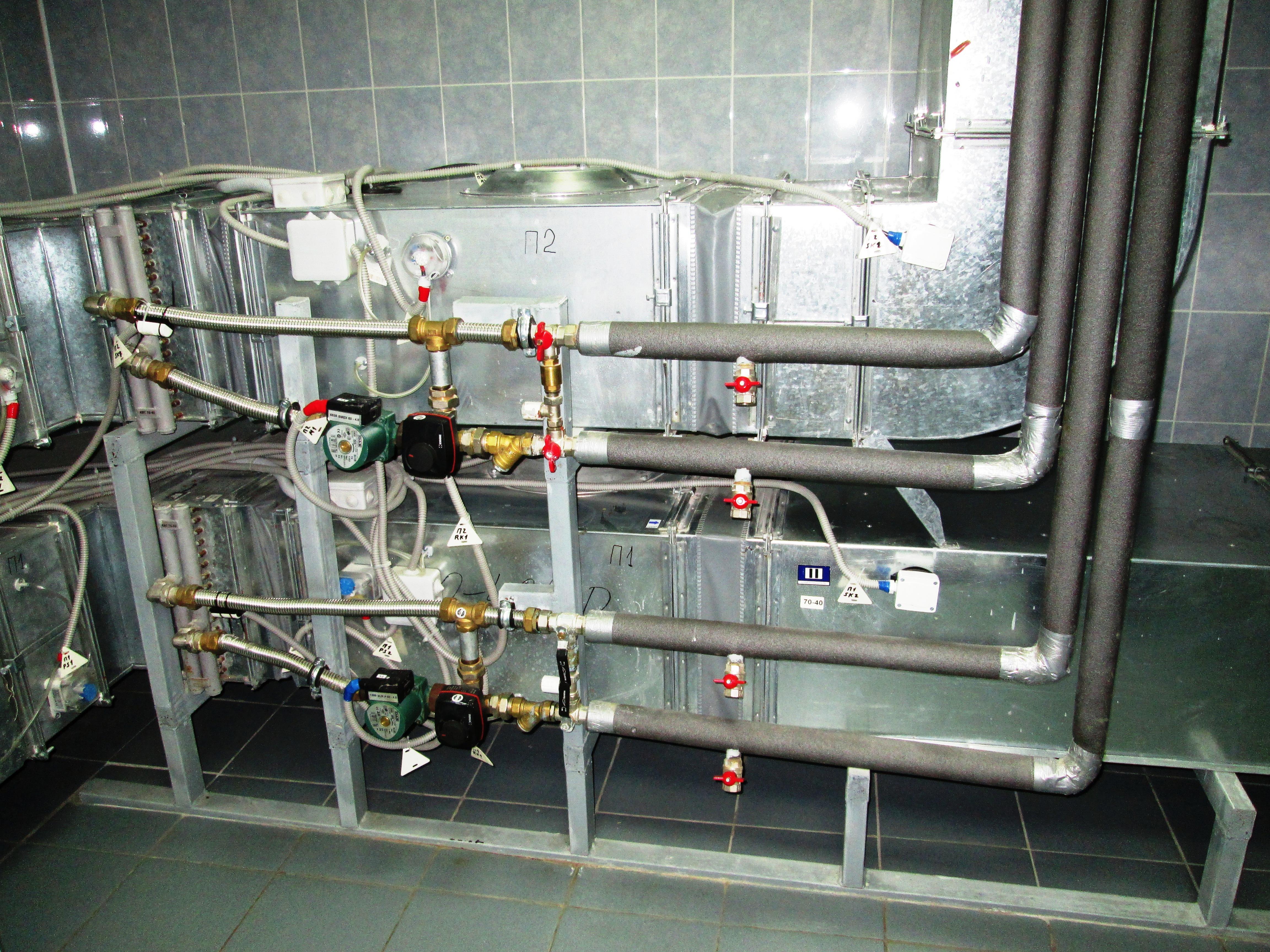 Приточные вентиляционные установки П-1 и П-2