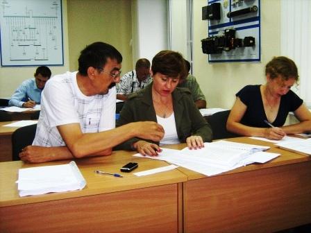 Фото. Информационные материалы для подготовки. Работа слушателей с комплектом тестовых заданий